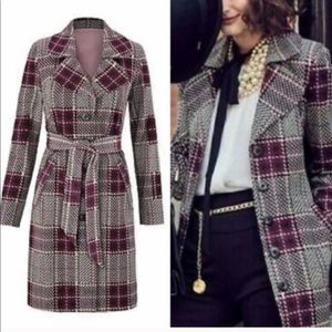 CAbi Sovereign Plaid Trench Coat
